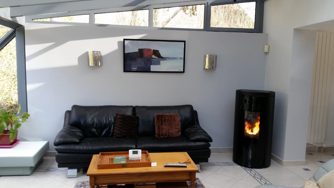 Installation d'un poêle à granulés de bois SKIA FUSION  - Reubreuve-Ranchicourt Image 1