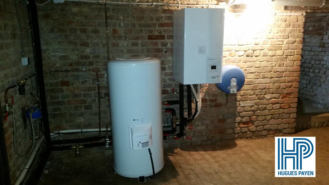 Installation d'une pompe à chaleur air/eau ATLANTIC - Chérisy Image 1